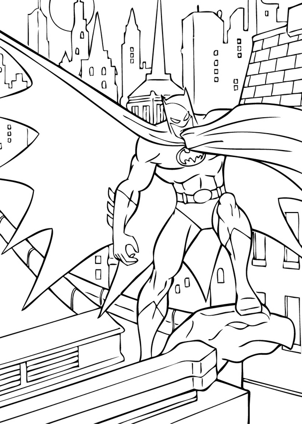 coloriage batman batman defenseur de gotham city