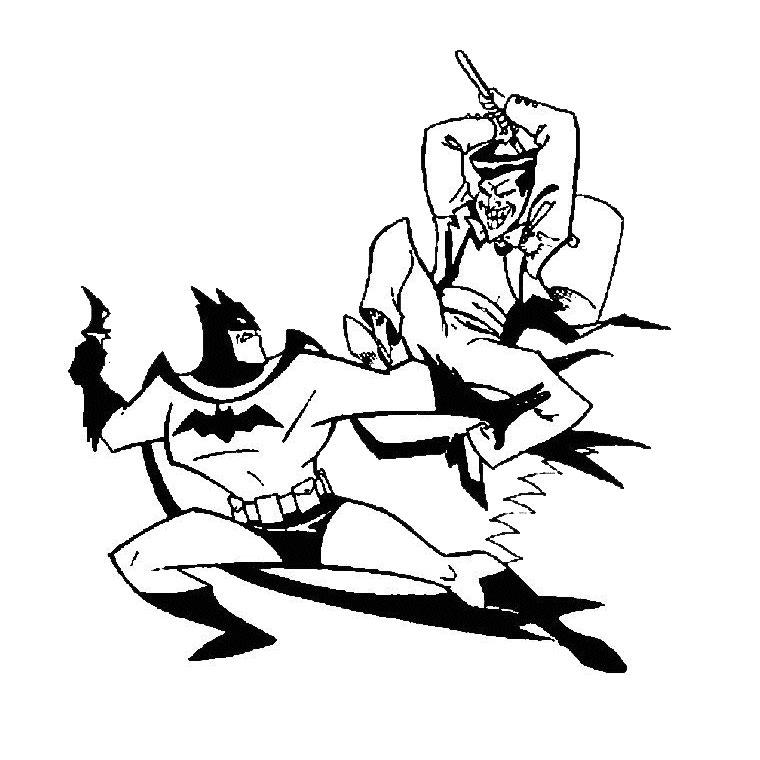 310 dessins de coloriage batman imprimer sur laguerche - Le joker dessin ...
