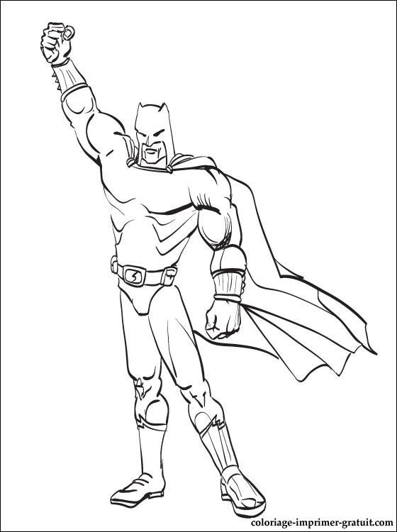 coloriage batman gratuit à imprimer et à colorier.