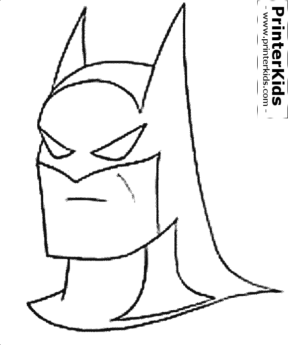 the batman (head mask) batman dessin à colorier