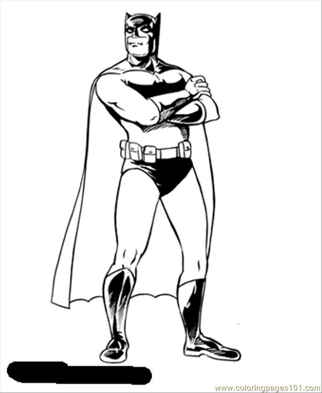 dessins à colorier batman (cartoons batman) gratuit à imprimer coloriage