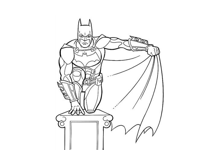 batman coloriage gratuit page à imprimer en ligne coloriage