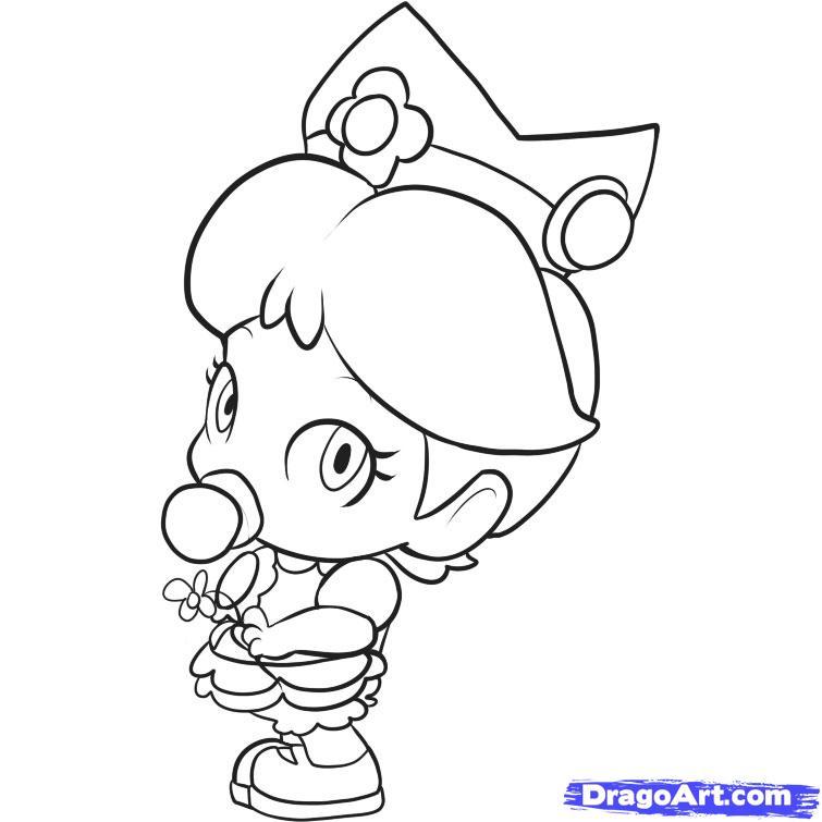 Dessin gratuit de bebe lilly à imprimer