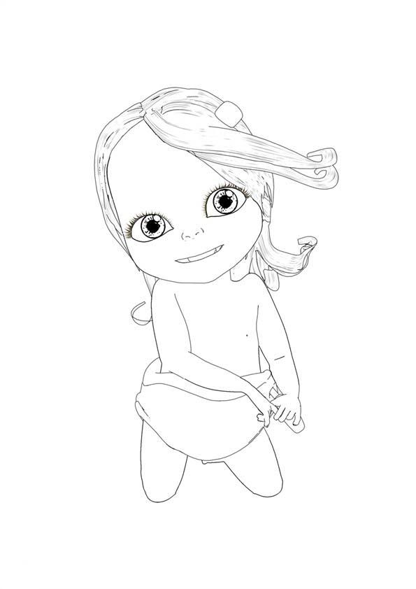 Dessin de bébé lilly