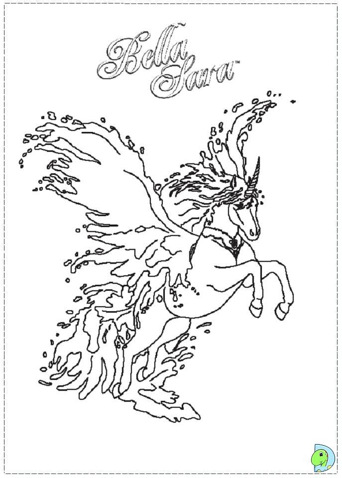 51 dessins de coloriage bella sara imprimer sur page 1 - Jeux de bella sara ...