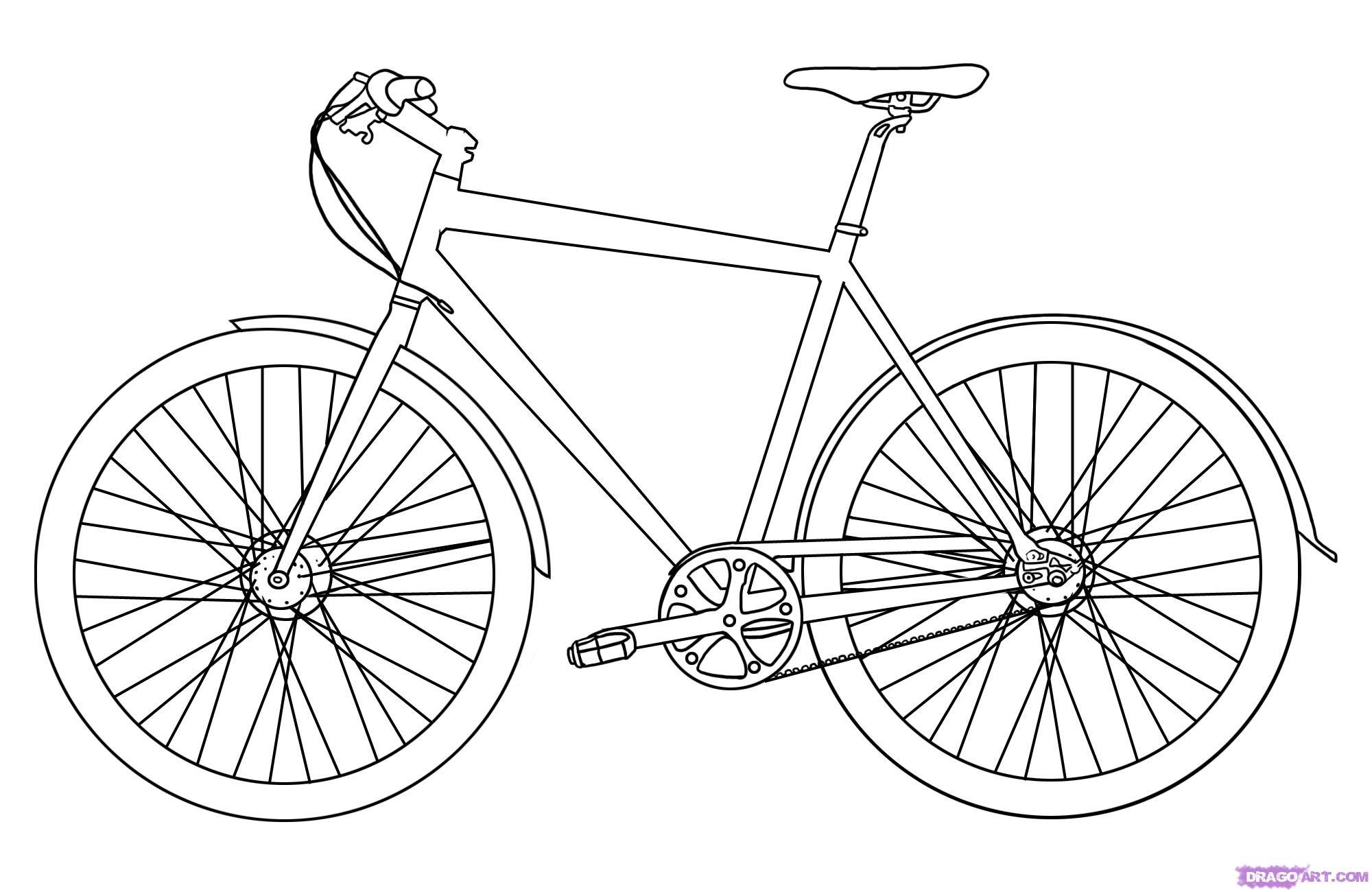 31 dessins de coloriage bicyclette imprimer sur - Dessin bicyclette ...
