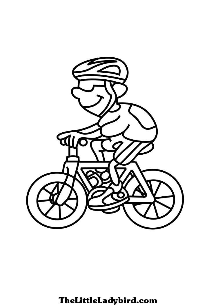 31 dessins de coloriage bicyclette imprimer sur - Coloriage de cycliste ...