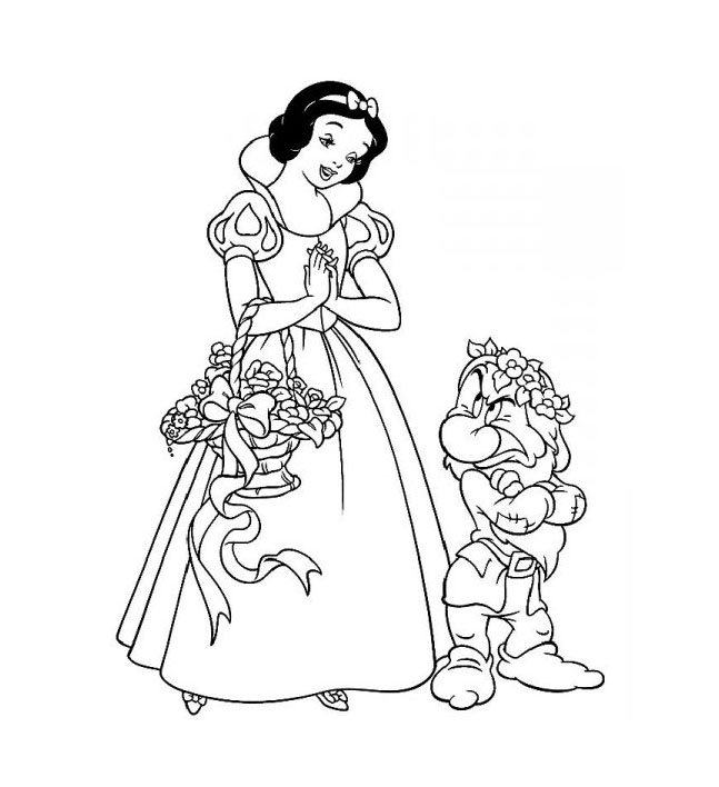 s lection de dessins de coloriage blanche neige imprimer sur page 2. Black Bedroom Furniture Sets. Home Design Ideas