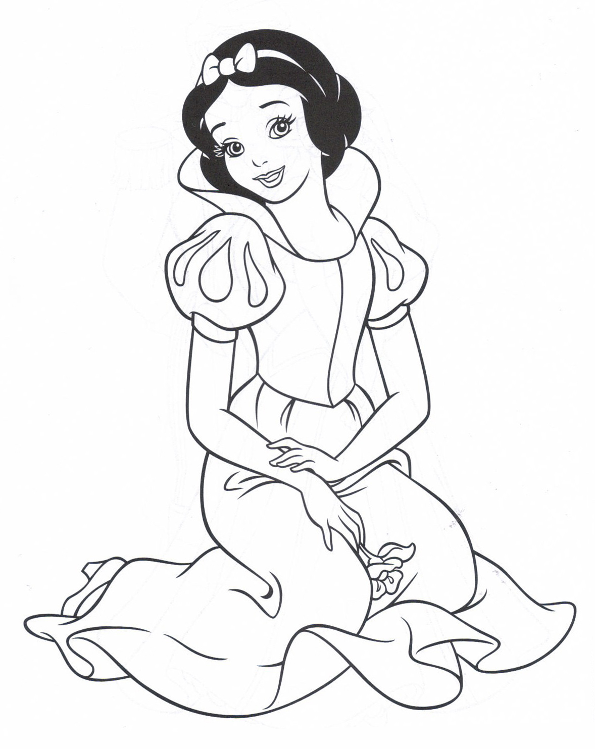 s lection de dessins de coloriage blanche neige imprimer sur page 1. Black Bedroom Furniture Sets. Home Design Ideas
