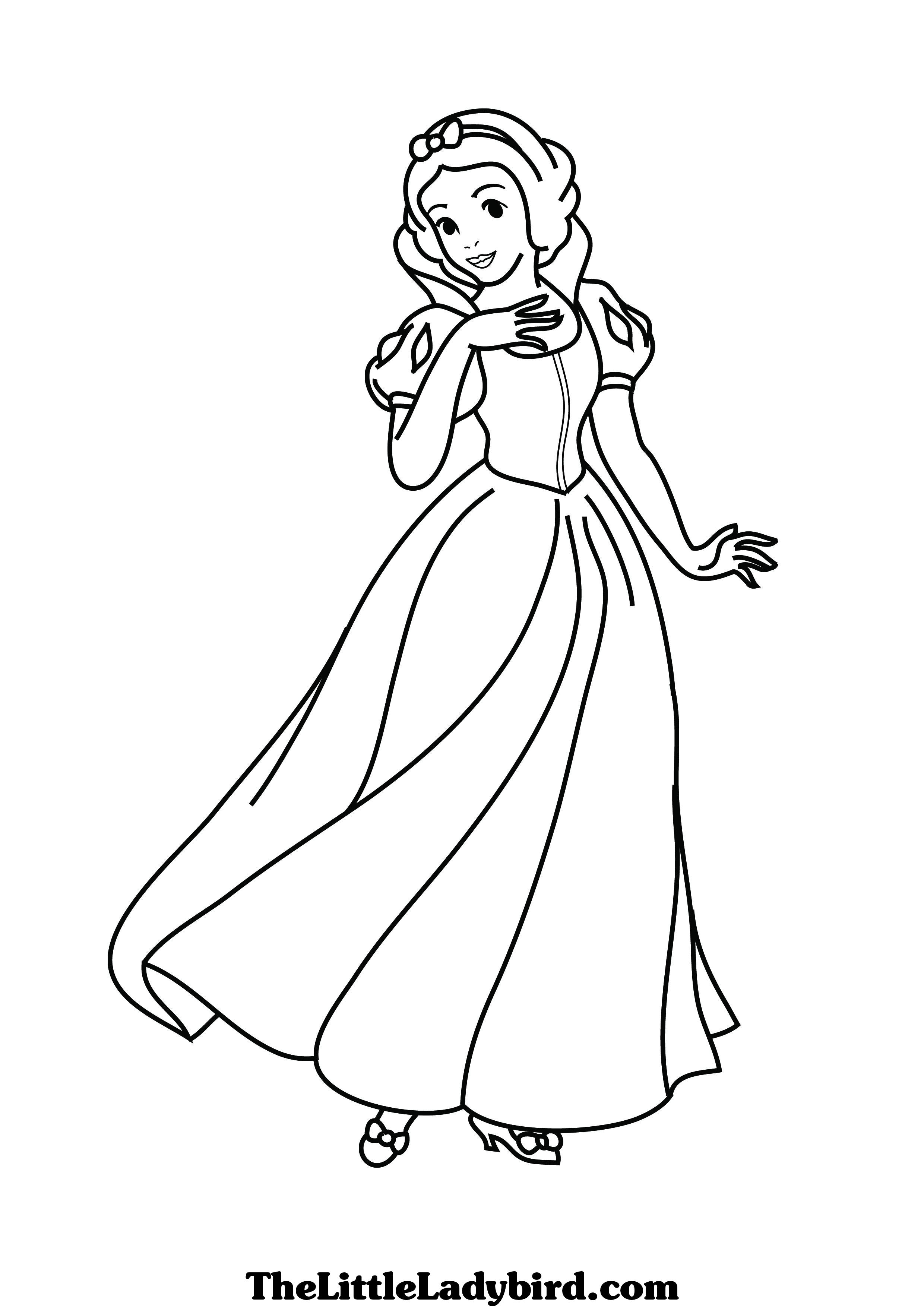 Snow white coloring pages - Coloriage neige ...