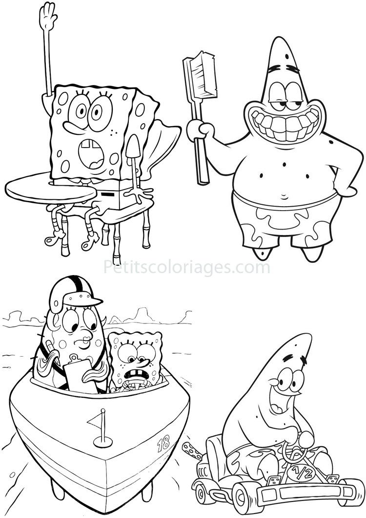 98 dessins de coloriage bob l'éponge à imprimer sur ...