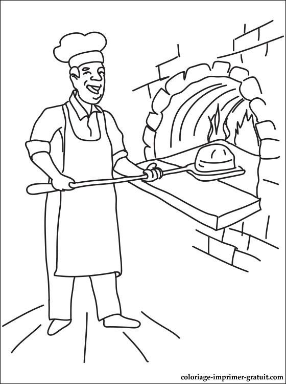 Dessin Boulangerie 23 dessins de coloriage boulanger à imprimer sur laguerche - page 1
