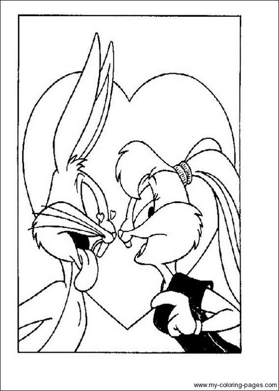 Dessin gratuit bugs bunny a colorier
