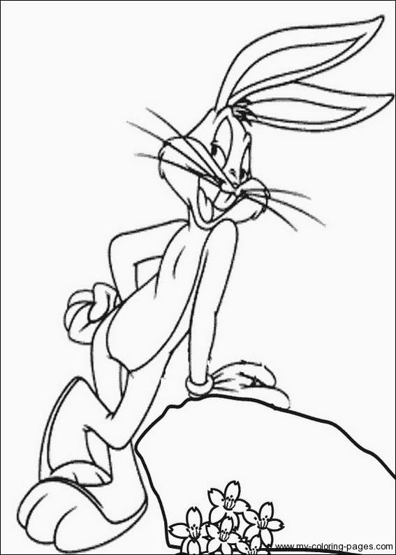 Coloriage de bugs bunny gratuit a imprimer