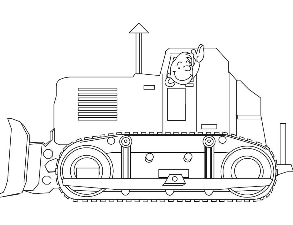 24 Dessins De Coloriage Bulldozer 224 Imprimer Sur Laguerche