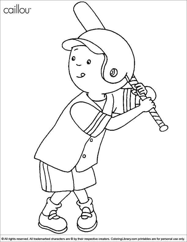 caillou coloring pages gilbert - photo#16