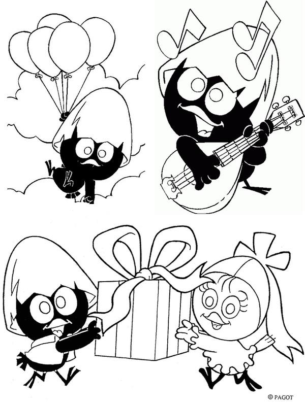 Coloriage calimero gratuit - dessin a imprimer #233