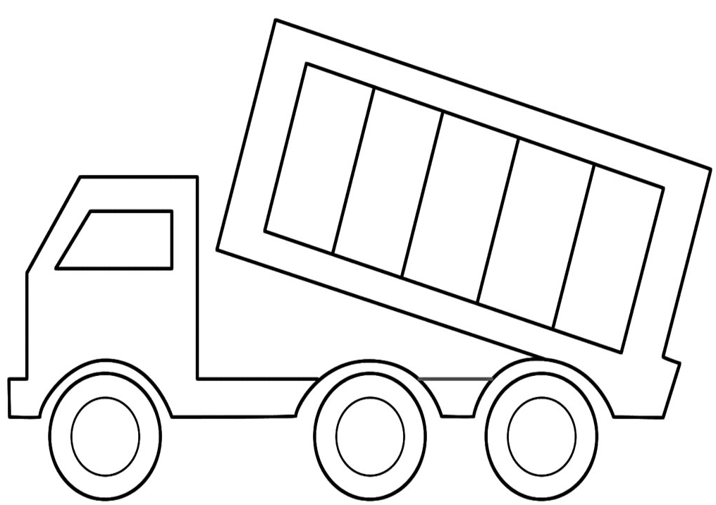 Dessin #16046 - coloriage camion benne