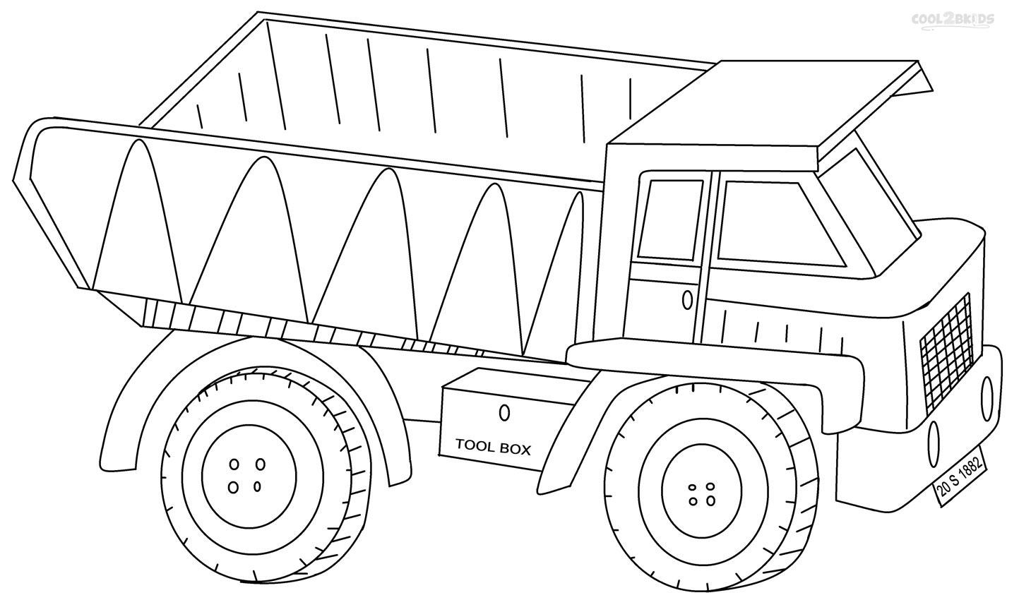 34 dessins de coloriage camion benne imprimer sur - Coloriage camion ...