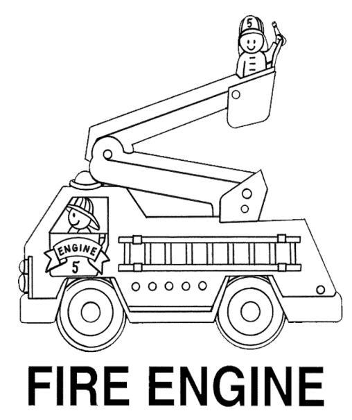 dessin 16090 coloriage de camion pompier imprimer et colorier