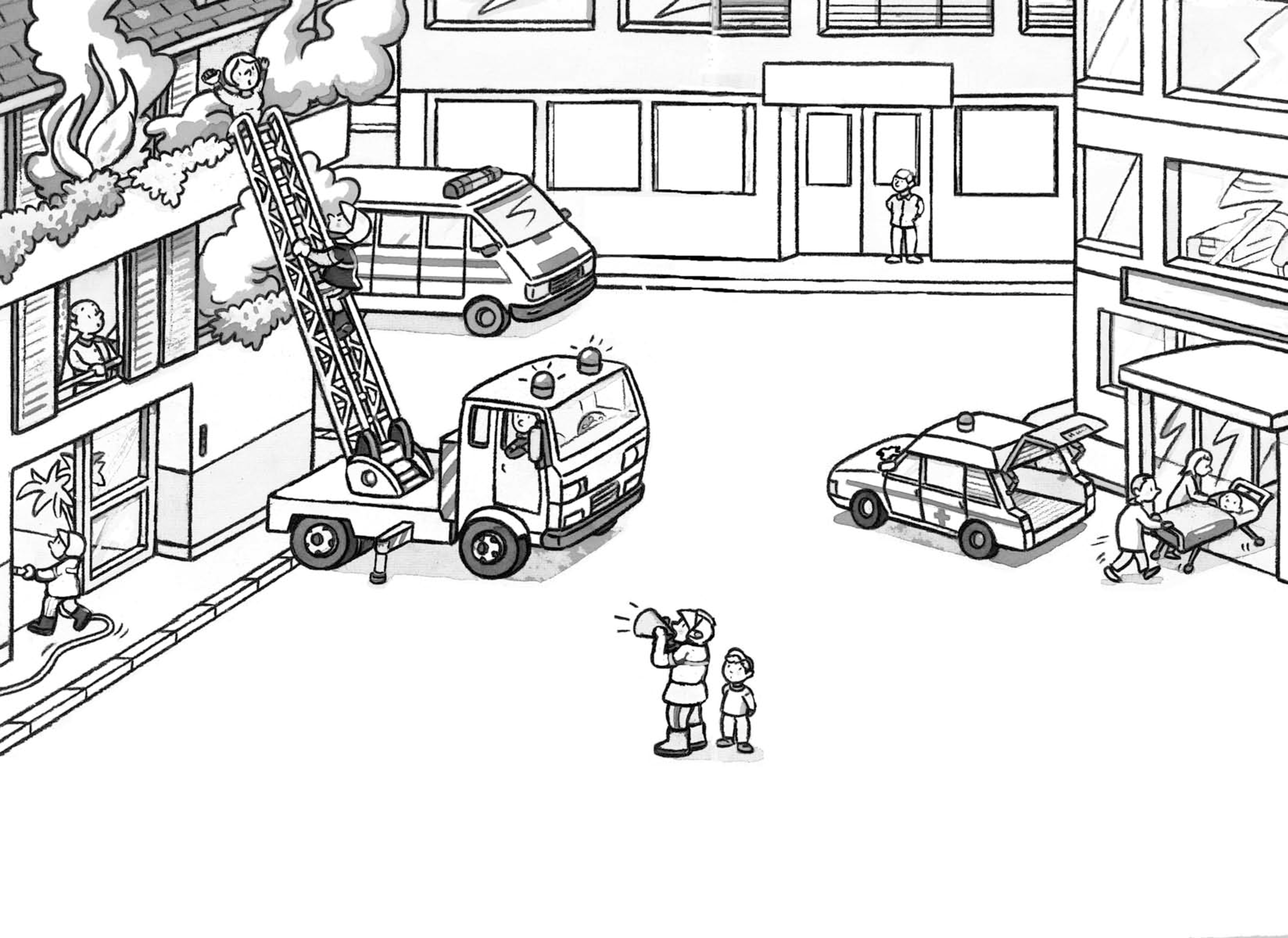 Inspirant Dessins à Colorier Camion De Pompiers