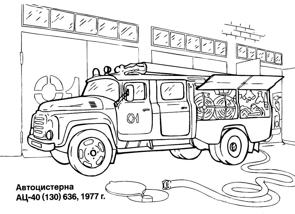 dessin 16102 dessin de camion pompier a imprimer