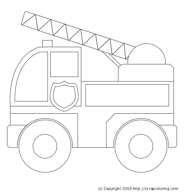 dessin 16107 dessin de camion pompier