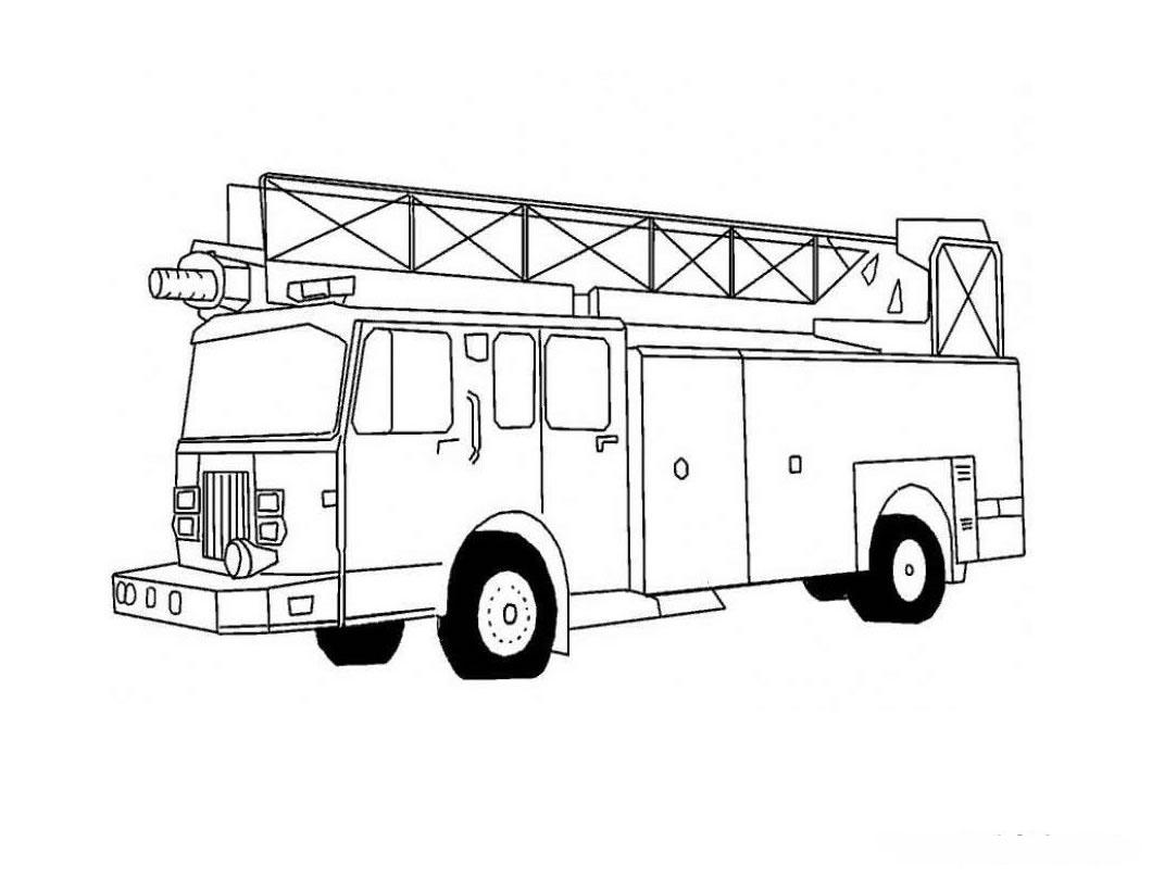 dessin 16110 activit de coloriage camion pompier