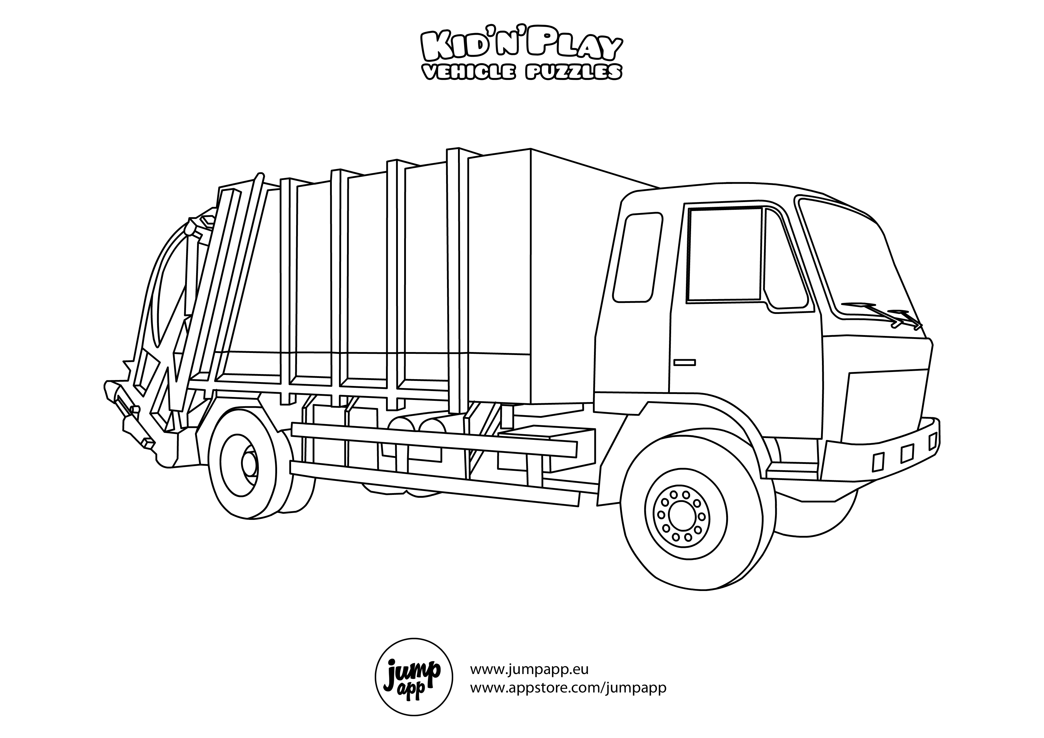 Image Result For Garbage Truck Coloring Page