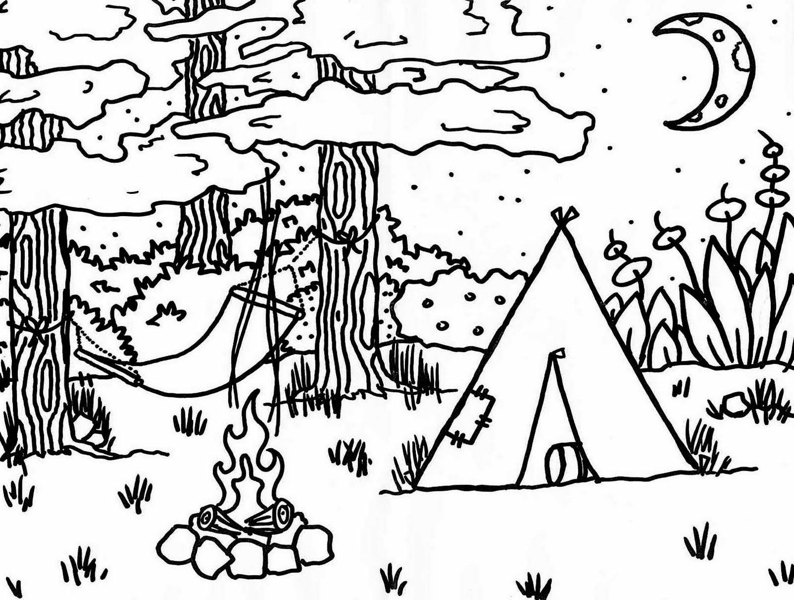 disney camping dessins à colorier