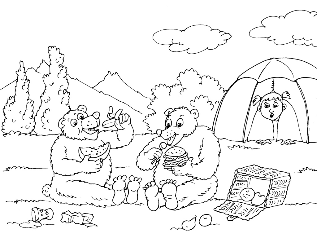 coloriage camping car