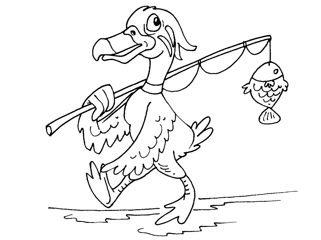 69 dessins de coloriage canards imprimer sur laguerche - Dessin peche aux canards ...
