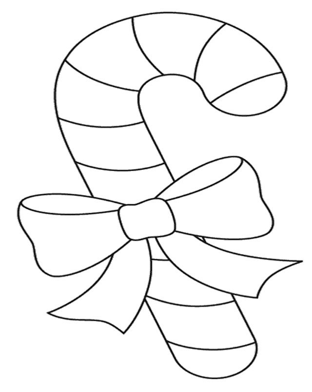 large candy cane coloring pages - photo#7