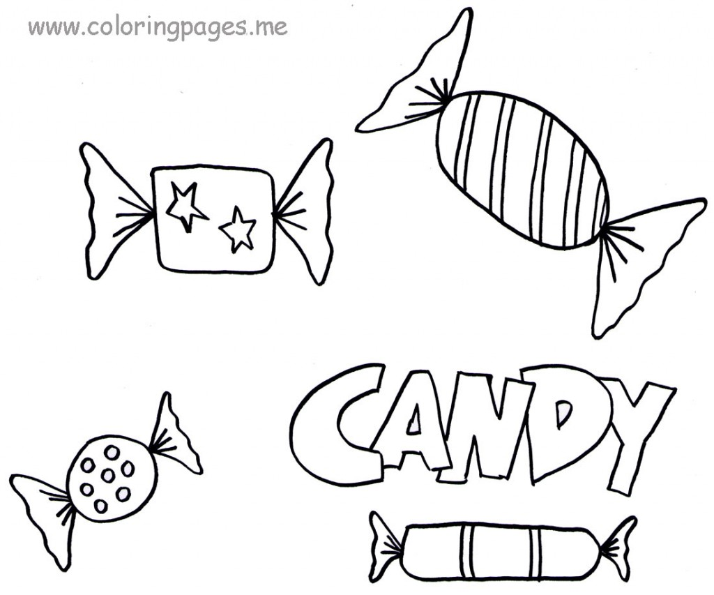 coloring pages chocolate candy - photo#37