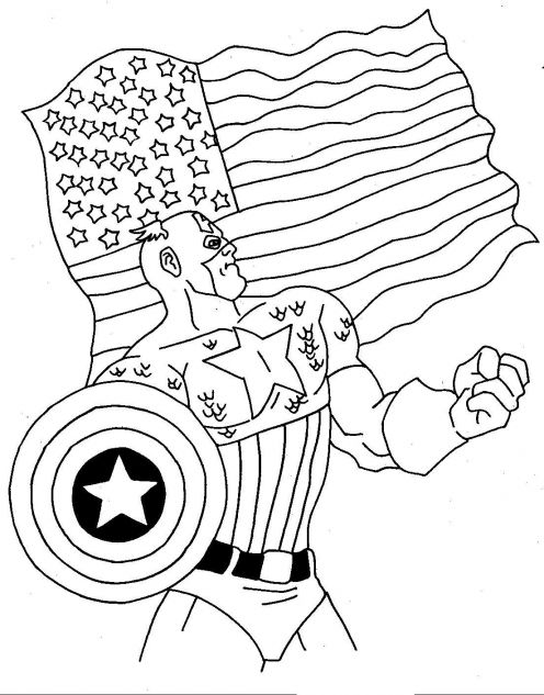 fun dessins à colorier: captain america dessins à colorier