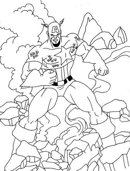captain america dessins à colorier A imprimer