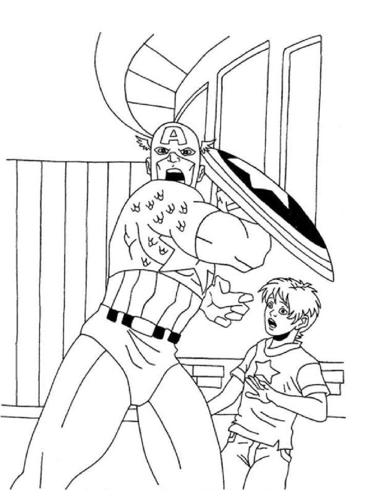 gratuit à imprimer captain america dessins à colorier pour enfants