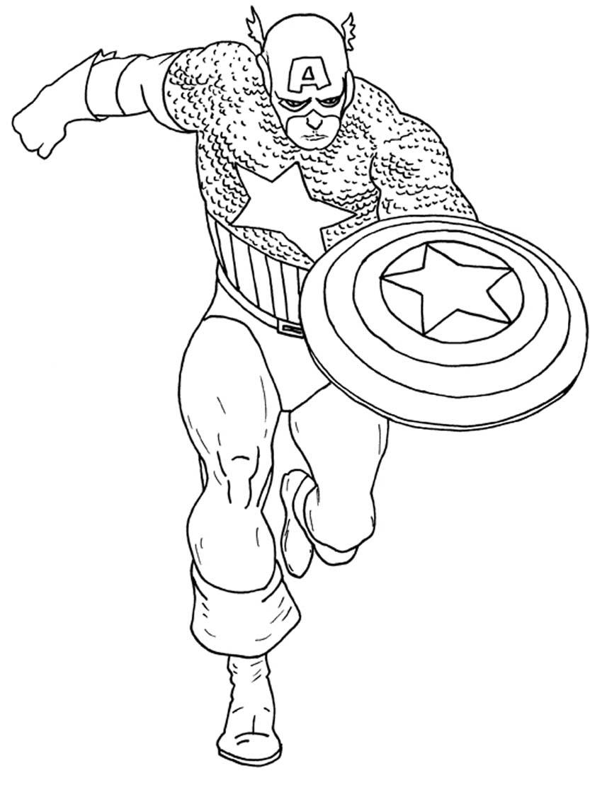 imprimer captain america dessins  colorier coloriage me