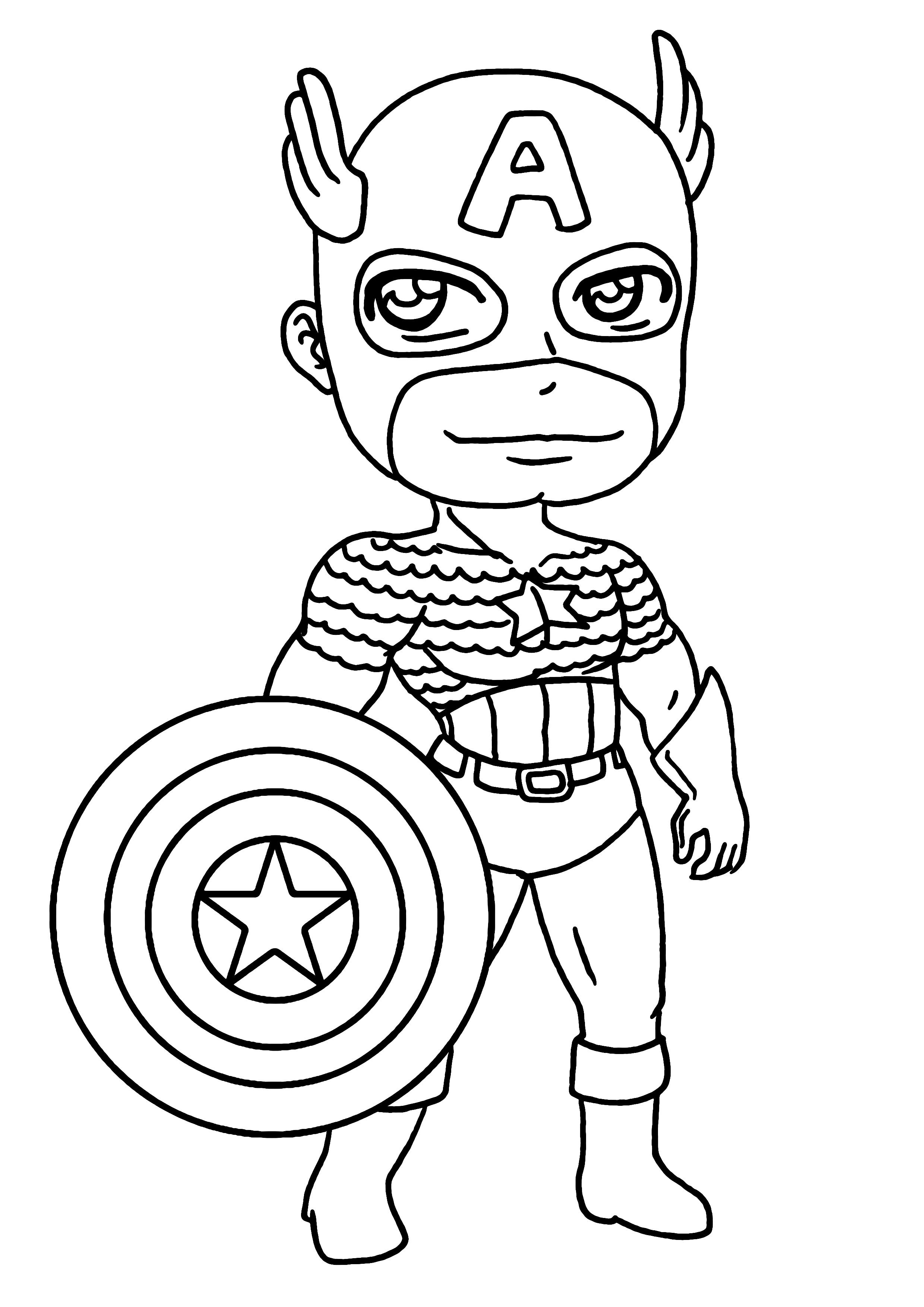 colorier captain america nom du dessin coloriage captain america