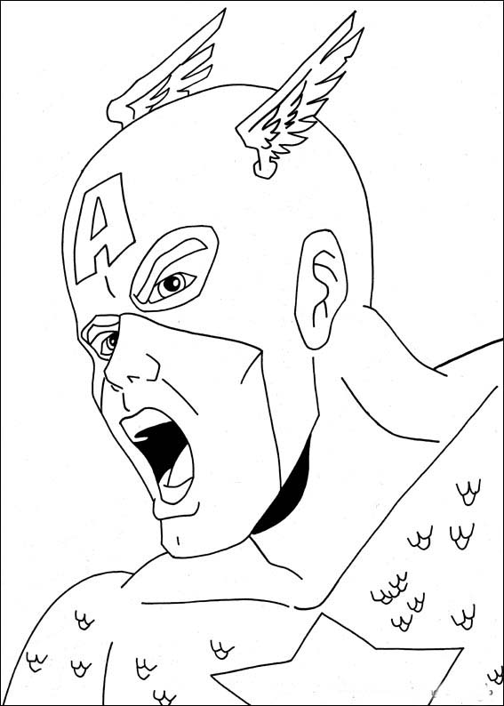 coloriage captain america coloriage pic pages captain america