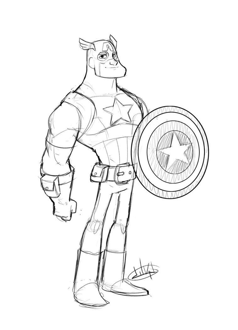 captain america dessins à colorier