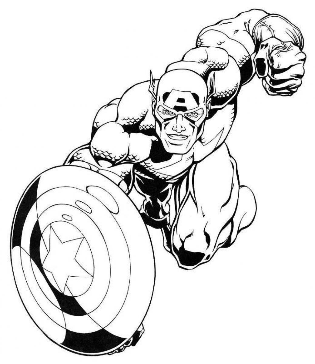 à imprimer captain america dessins à colorier coloriage me