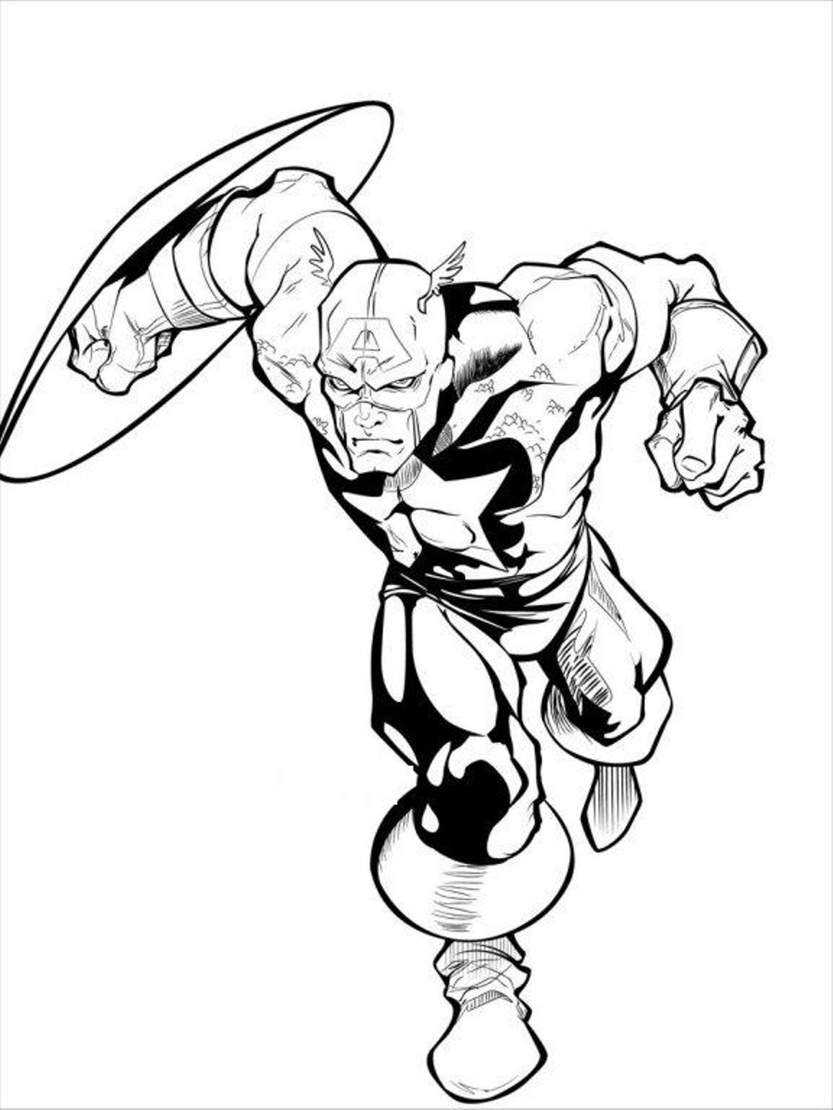 super hero captain america dessins à colorier gratuit printout sea4waterman