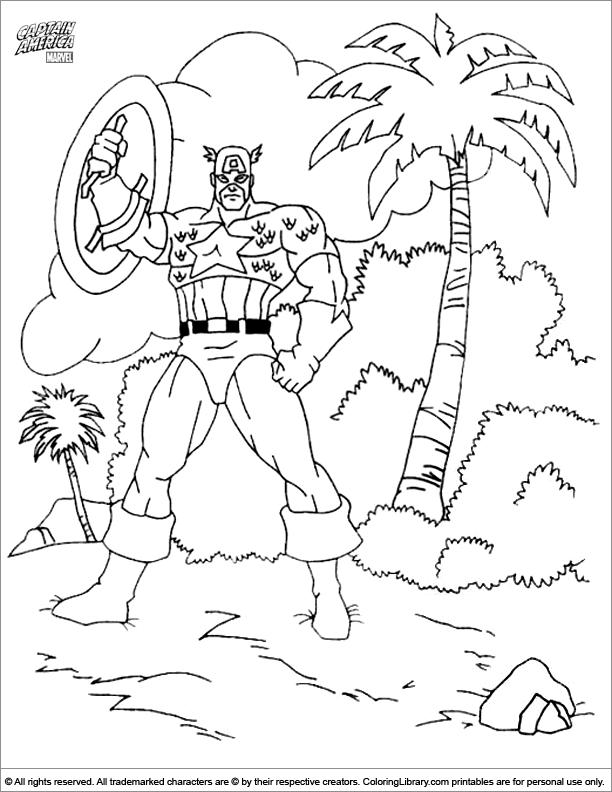 Coloriage Captain America Imprimer Gratuit.156 Dessins De Coloriage Captain America A Imprimer Sur Laguerche