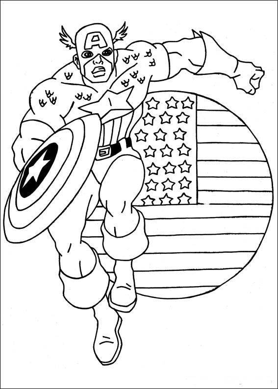 captain america dessins à colorier pour enfants best image à dessiner