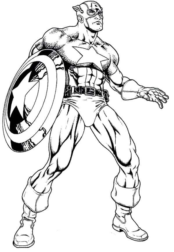 dessins à colorier of captain america