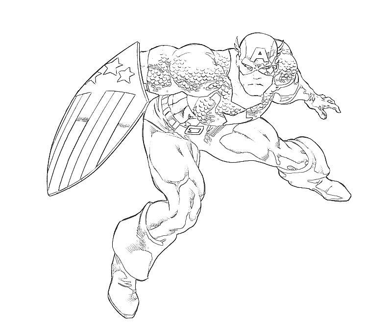 dessins à colorier captain america gratuit images coloriage design