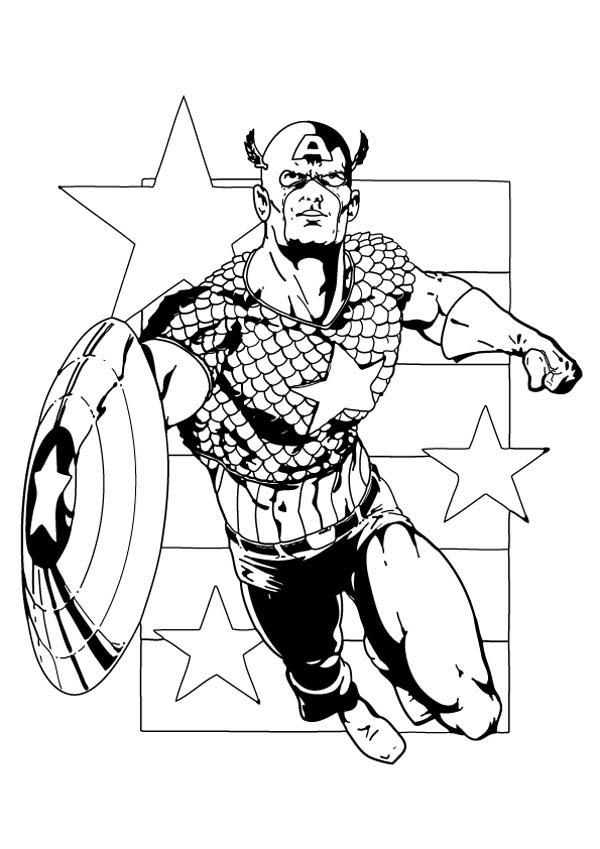 captain america, : the first avengers captain america dessin à colorier