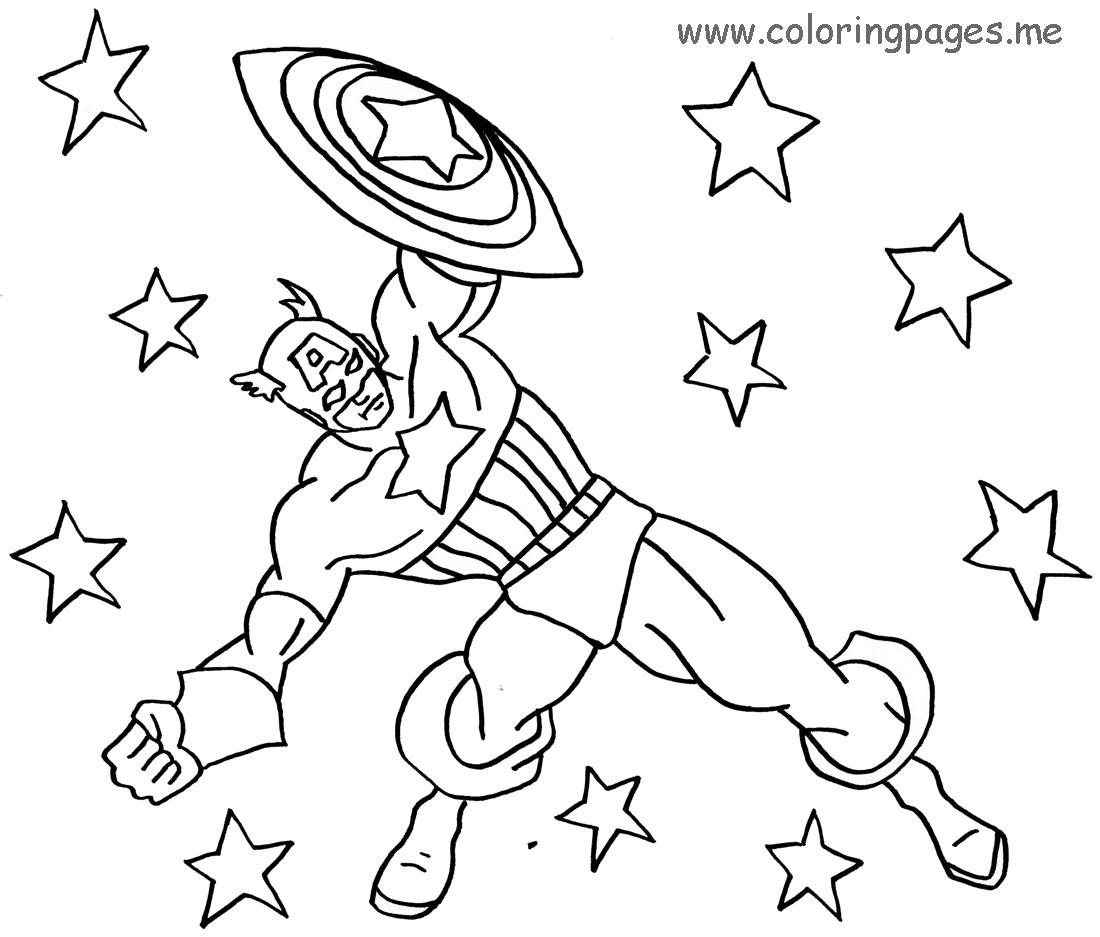 captain america work dessin à colorier