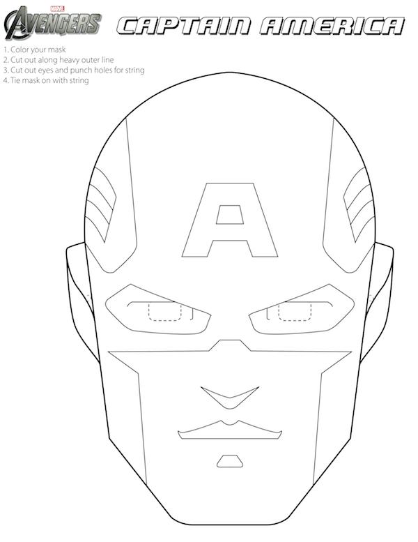 captain america mask dessins à colorier à imprimer dessins à colorier